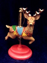 Kimple 1606 carousel ornament reindeer jumping