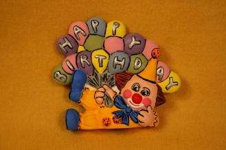 Kimple 1697 Happy Birthday Clown Blinkie pastel