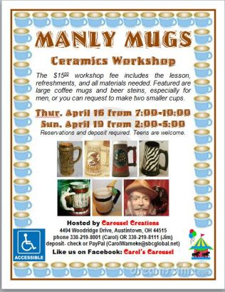 Manly Mugs poster