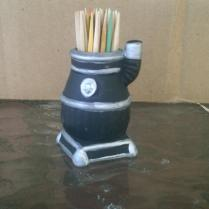 Mini Pot-Bellied Stove Toothpick Holder