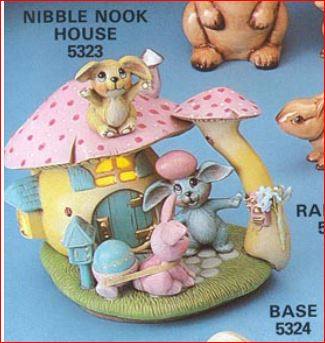 nibble nook house 5323 with bunnies