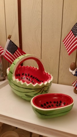 Ocean State 0107 & 0326 watermelon bowl & small bowl (CC)
