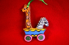 S-K 0463 giraffe & zebra