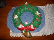 Scioto 0300 holly birds wreath