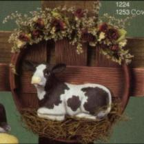 Scioto 1253 cow as add-on in wreath