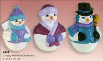Scioto 2494 Frosty Roly-Poly ornaments