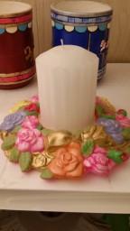 Scioto 3038 Rose Candle Ring (CC)