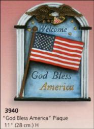 Scioto 3940 God Bless America plaque