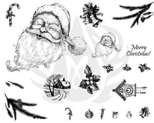 silkscreen pattern DSS0133_Merry_Christmas