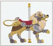 STEAMPUNK CAROUSEL LION