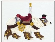 STEAMPUNK CAROUSEL POLAR BEAR