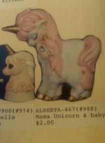 alberta ornaments 0467 mama unicodn with baby