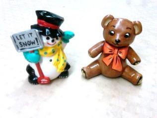 byron 1213 frosty & teddy ornaments