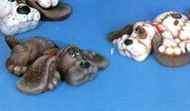 Ceramichrome 1555 sprawled soft puppies