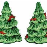 Christmas tree salt & pepper shakers