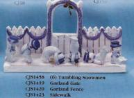 CJ Molds 1458 tumbling snowmen