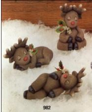 Clay Magic 0982 THREE SLEEPY REINDEER