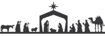 clipart nativity border