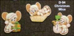 d-94 christmas mouse magnets