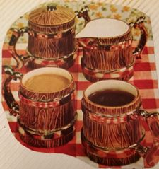 Duncan 0039 wood coffe cup set