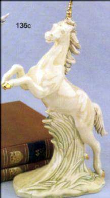 "Duncan 0136 WILD MUSTANG REARING OR PEGASUS 10"" (shown as unicorn)"