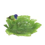 Duncan 0256 medium grape leaf dish