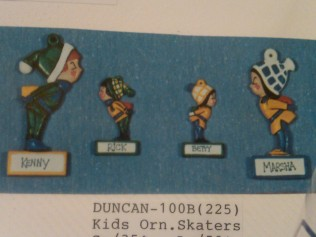 Duncan 100B kids ornament skaters