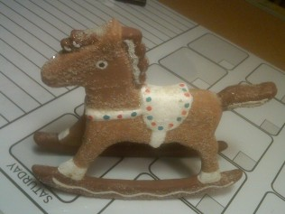 Duncan 1101 rocking horse gingerbread