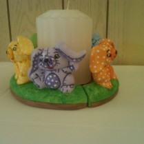 Gare 0981 & 0992 soft bunny candle ring CC