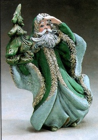 gare 1059 Victorian Santa with Tree (green)