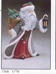 Gare 1568 Antique Santa with Lantern