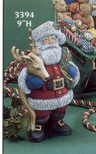 GARE 3394 Classic Santa with reindeer