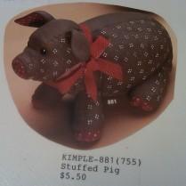 Kimple 0881 stuffed (soft) pig