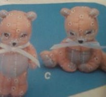 Kimple 1055 stuffed baby pandas
