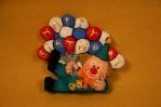 Kimple 1697 Happy Birthday Clown Blinkie red-wt-blue