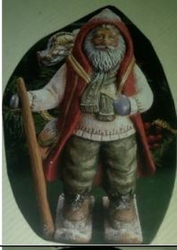 Kimple 1785 & 1786 Alpine Santa + Skis & Sack