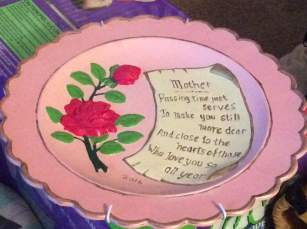 Mother's Day  plate (student)