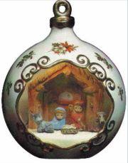 Nowell Mini Nativity Christmas Ball Scene