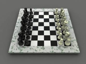 small chess set