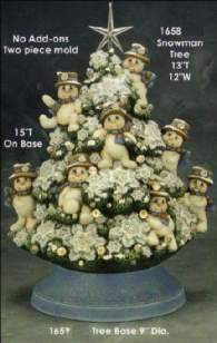 Clay Magic 1658 & 1659 Snowman Tree