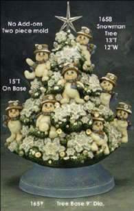 Clay Magic 1658 & 1659 Snowman Tree