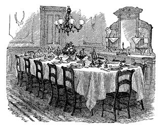 clipart Victorian dining room
