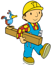 clipart worker with board
