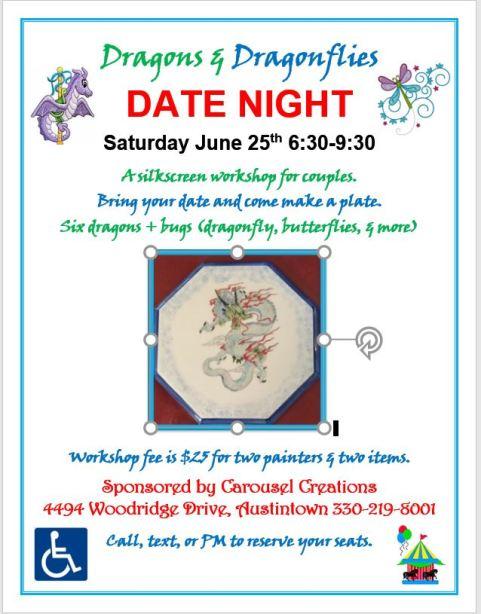 DATE NIGHT Dragon & Dragonflies 6-25-16