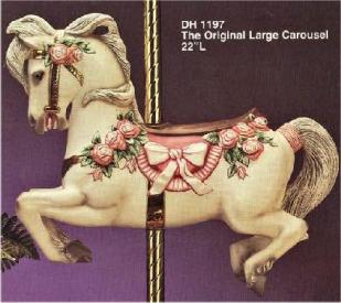 Doc Holliday 1197 The Original Large Carousel Horse
