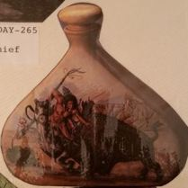 doc holliday 263 Indian Brave Decanter (with buffalo)