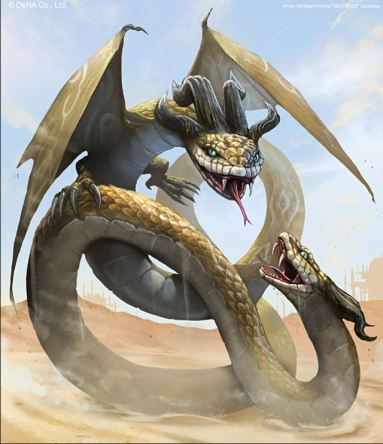 dragon Amphisbaena (head on both ends)
