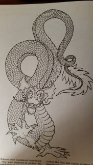 dragon drawing Chinese