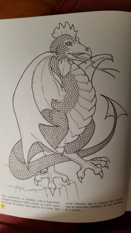 dragon drawing cockatrice or nasilisk