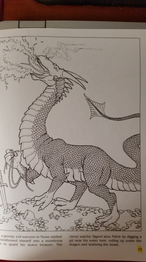 dragon drawing Fafnir